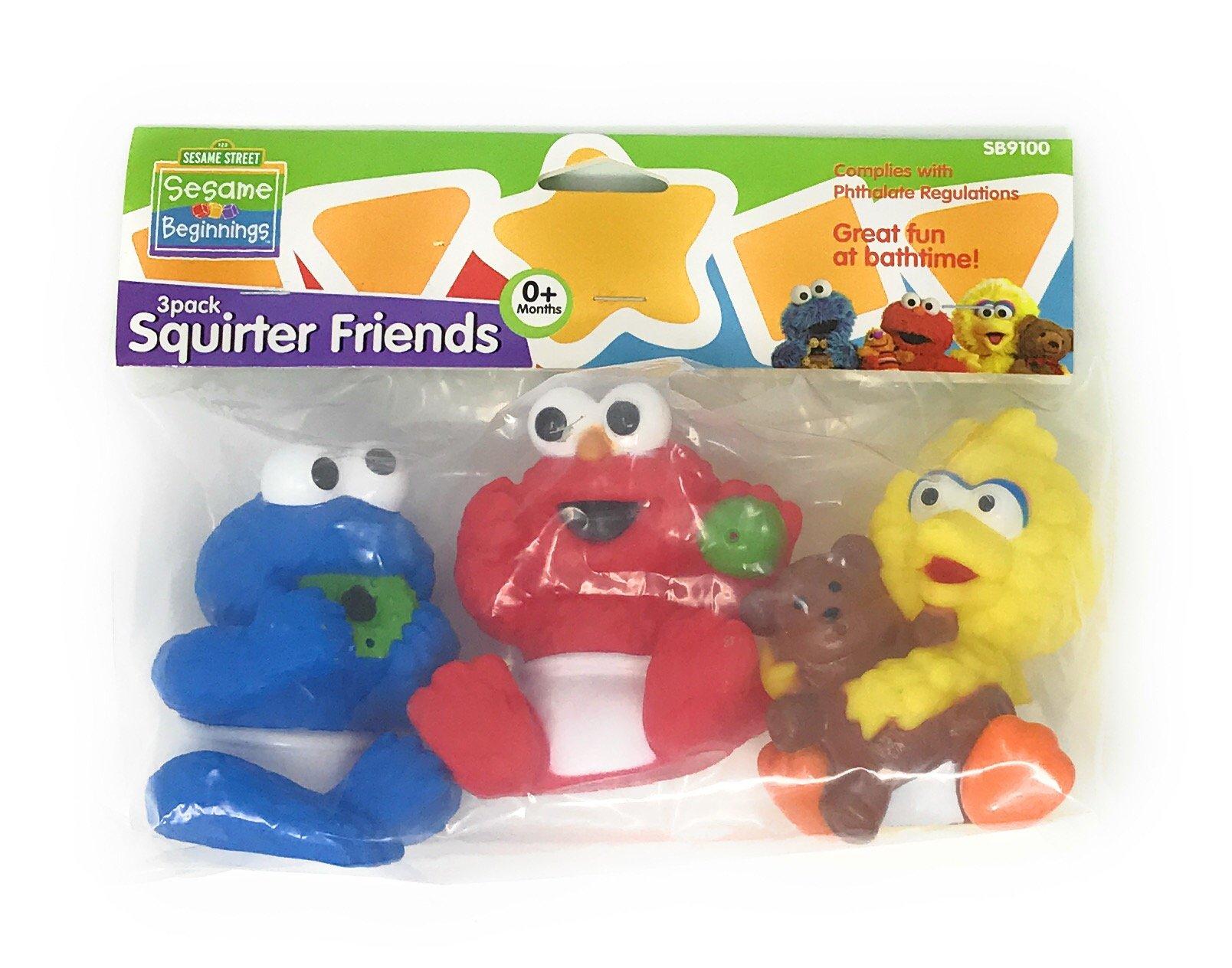 Sesame Street Friends Bath Tub Squirter 3-Pack with Cookie Monster, Elmo & Big Bird by Sesame Street
