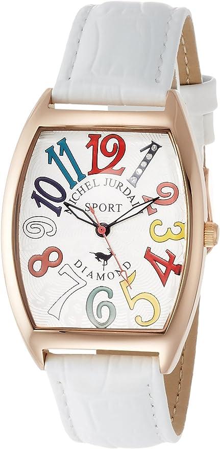 [ミッシェルジョルダン] 腕時計 スポーツ ダイヤモンド レザー SG-1100-5 ホワイト