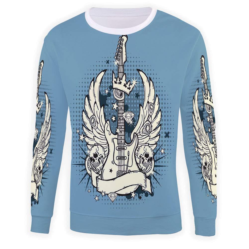 MOOCOM Adult Guitar Crewneck Sweatshirt