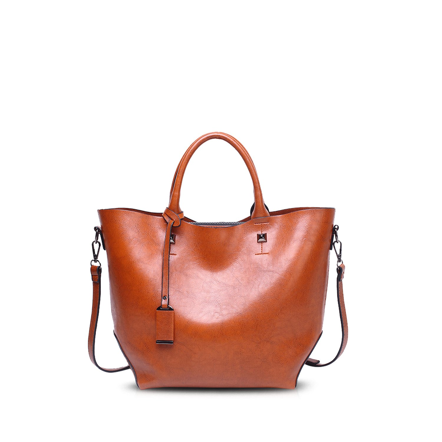 NICOLE/&DORIS /él/égant Femme Sacs /à main Bandouli/ère Tote Crossbody Bag Sacs port/és main Sacs port/és /épaule Messenger Grand Bag PU Marron