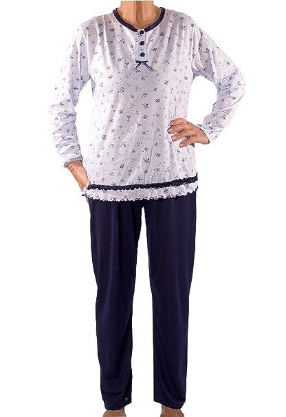 Kuschelig Blumen Oma Senioren Schlafanzug Damen Seniorenmode24 Mit pqVMGSUz