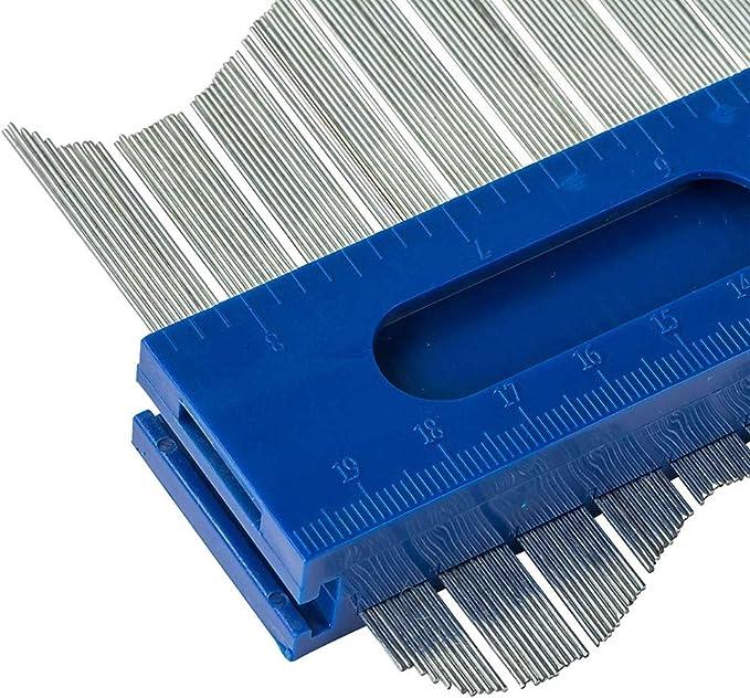 Lorsoul - Contorno de Metal para calibrador de ángulos, Herramienta de copiado de Formas Irregulares: Amazon.es: Hogar