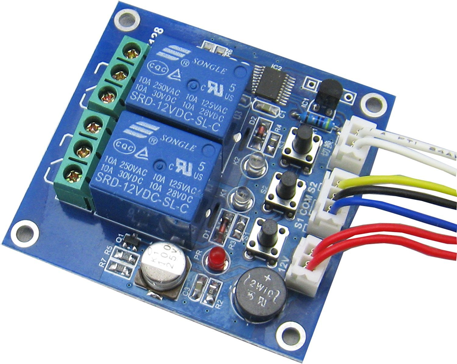 Yeeco 30a High Current Relay Output Control Module Power Electrical Normally Open Switch Closed 5v