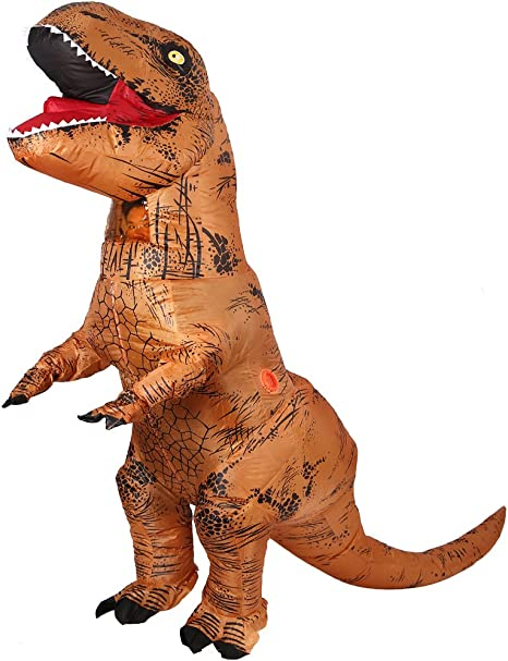 Inflable Dinosaurio T-Rex Disfraz - talla adulto Halloween disfraz ...