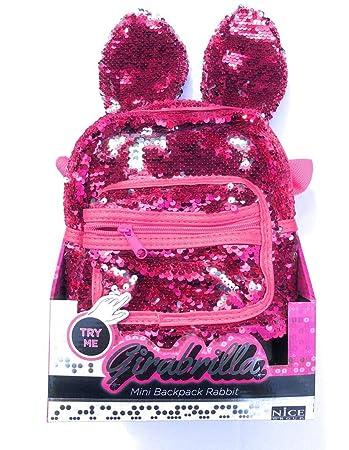 outlet 203c4 c0ab1 Girabrilla Mini backpack Rabbit Zaino con orecchie colore fucsia di Nice
