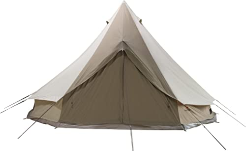 TETON Sports Sierra Canvas Tent Waterproof Bell Tent for Family Camping in All Seasons