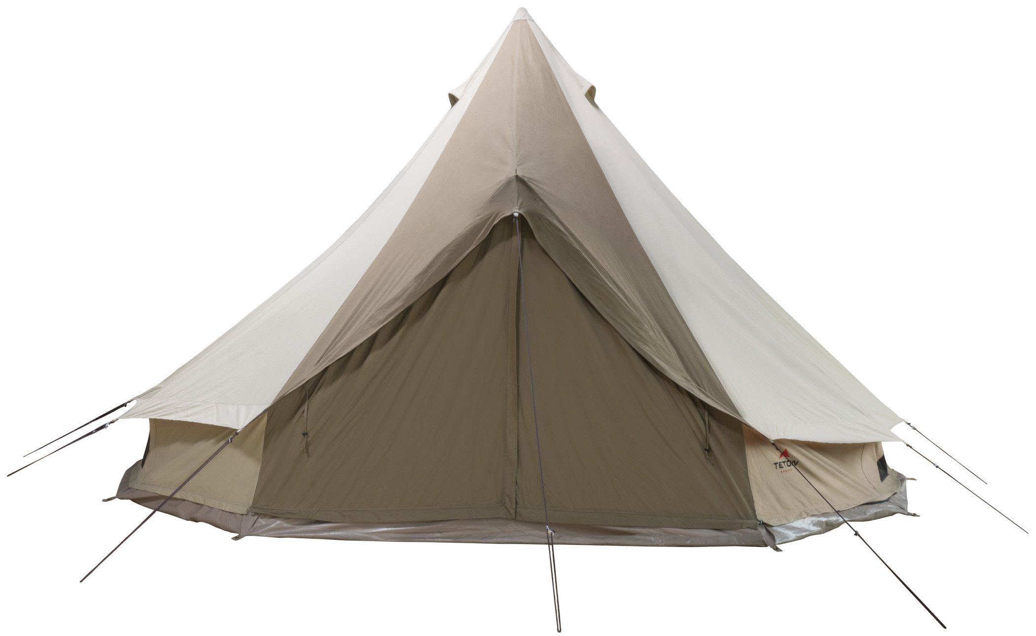 TETON Sports Sierra 12 Canvas Tent; Waterproof Bell Tent for Family Camping in All Seasons; 6-10 Person Tent, 12' x 12', Brown/Tan by TETON Sports