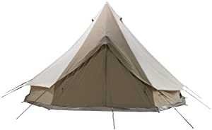 TETON Sports Sierra 16 Canvas Tent; Waterproof Bell Tent for Family Camping in All Seasons; 8-12 Person Tent