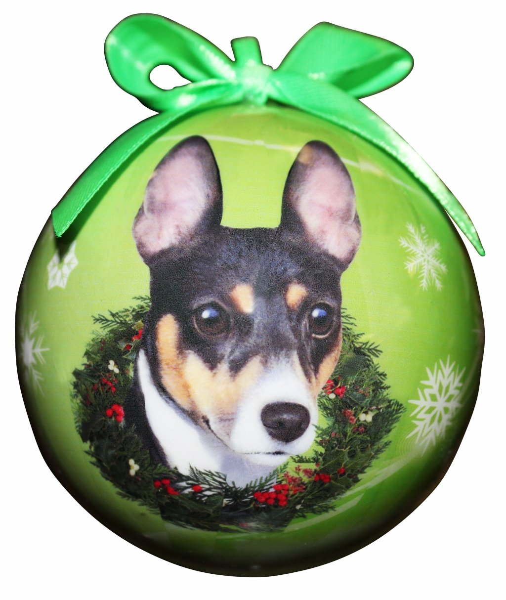 """Rat Terrier Christmas Ornament"" Shatter Proof Ball Easy To Personalize A Perfect Gift For Rat Terrier Lovers"