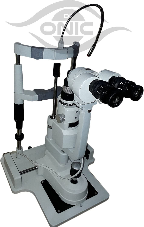 110-240V Slit Halogen Illumination Lamp 3 Step Magnification Zeiss Type with Beam Splitter /& Camera