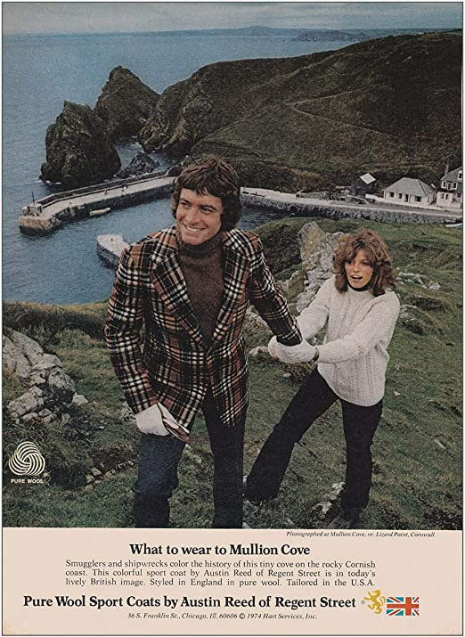 Amazon Com 1974 Austin Reed Of Regent Street Wear To Mullion Cove Austin Reed Print Ad Posters Prints