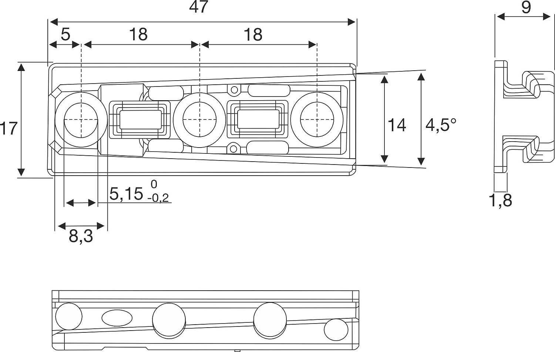 Alliage R/ésistant Armoire Charni/ère d/'Assemblage Lit SOLID Gedotec Connecteurs Embo/îtables de Mobilier Goupilles Universelles 52x17x12.5 mm Meuble Lot de 25 Capacit/é de Charge 250 kg
