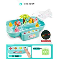 Happy GiftMart Water Fishing Toy with Music and Light Floating Duck and Fishes Game for Children