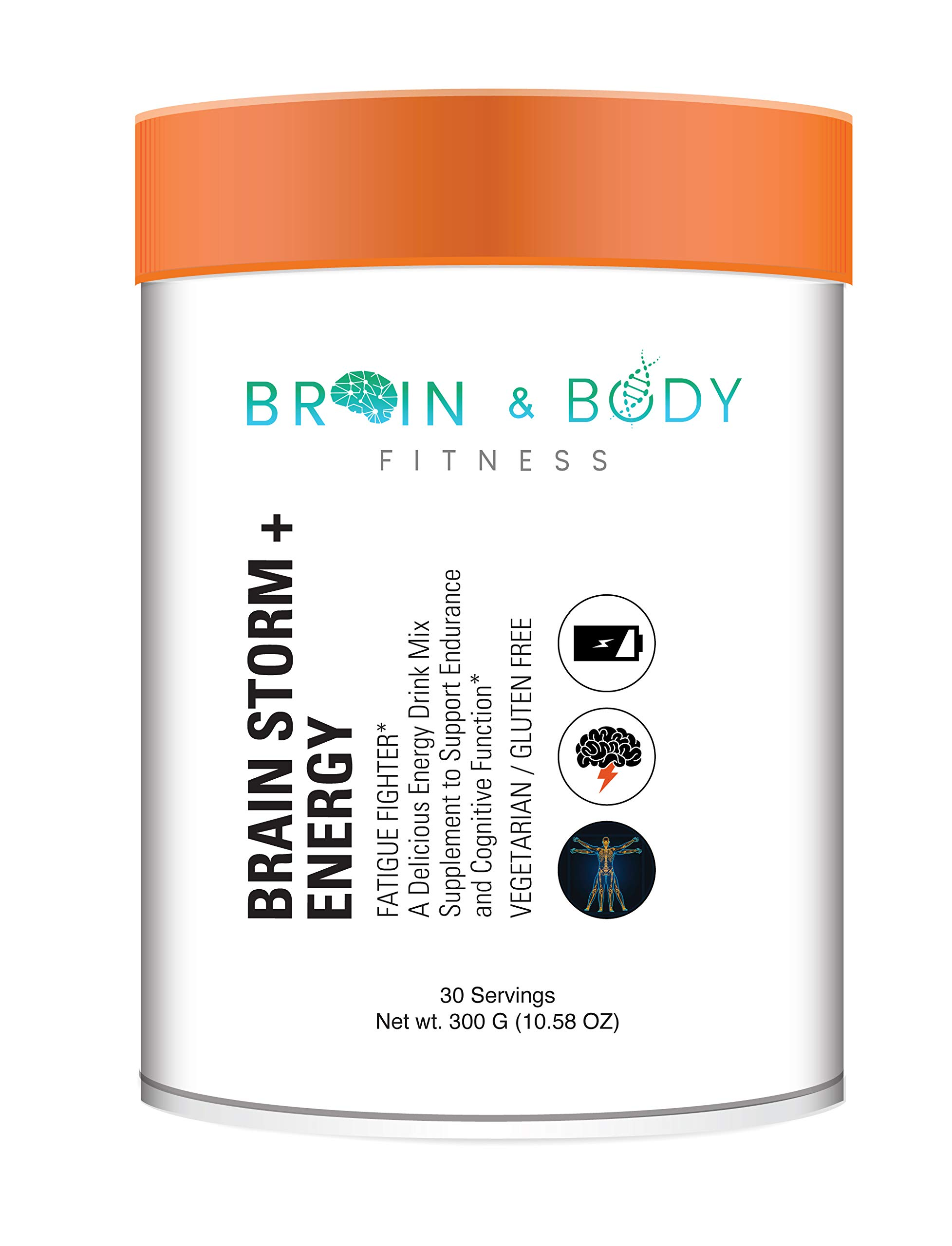 Brain Storm + Energy | Super Nootropic Brain Booster Supplement, Enhance Focus, Boost Concentration & Improve Memory, Mind Enhancement with N, N Dimethylglycine for Mental Alertness & Brain Function by Brain and Body Fitness Supplements