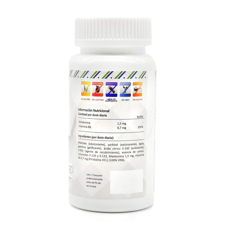 MELATONINA PURA + VITAMINA B6 - Concilia un sueño rápido, sin interrupciones y reparador durante 8 horas - Melatonina de rápida absorción para evitar el ...