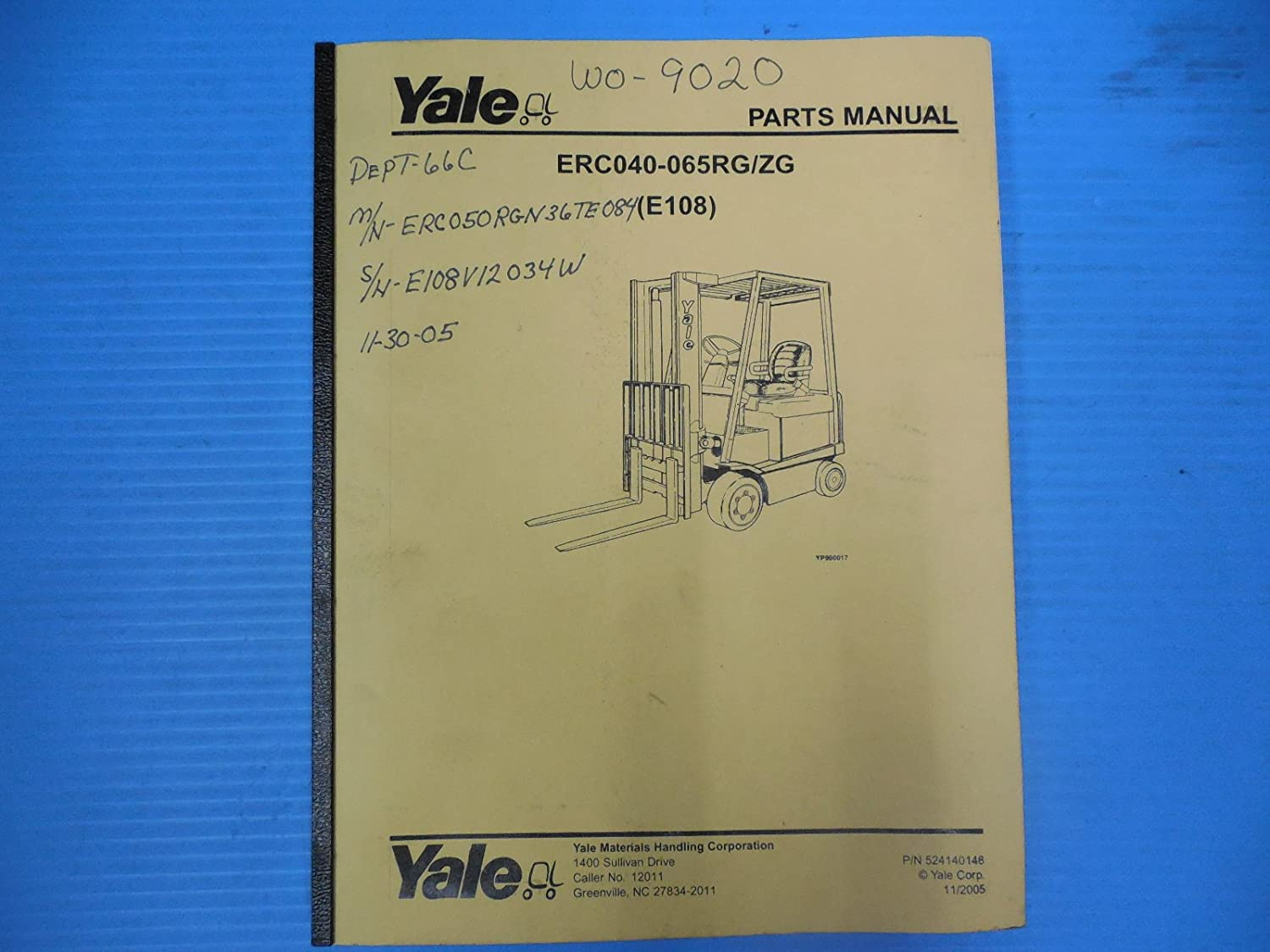 Wiring Yale Schematic Fork Lift Erco3aan Electrical Diagrams Diagram Glc Erc050 Explained Electric
