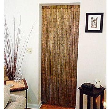 Amazoncom Natural Bamboo Beaded Handmade Curtain Beads Window