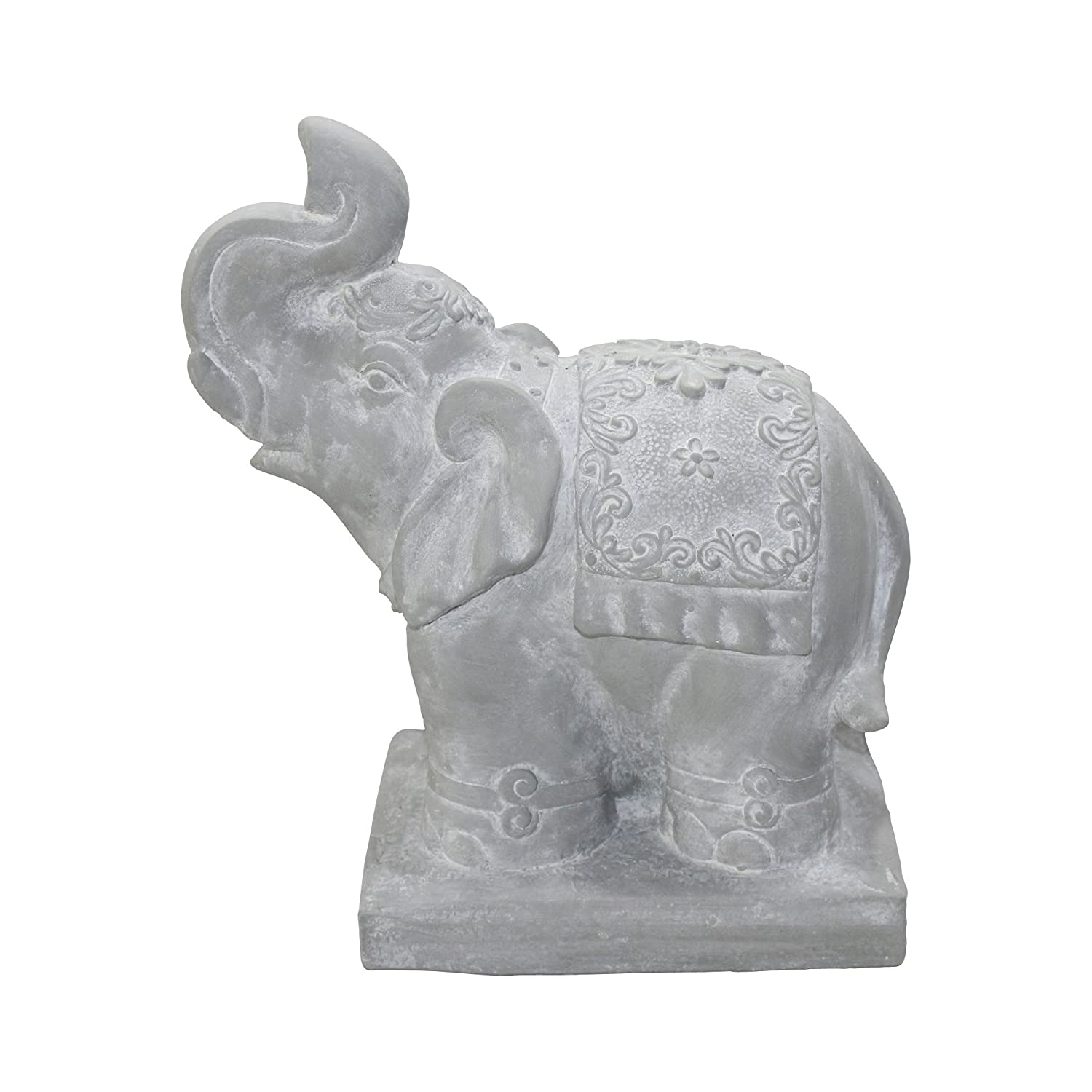 Amazon.com: Homea 5dej1326bc Statue Elephant Drawing Chalk 40 x 33 x 18 cm White: Kitchen & Dining