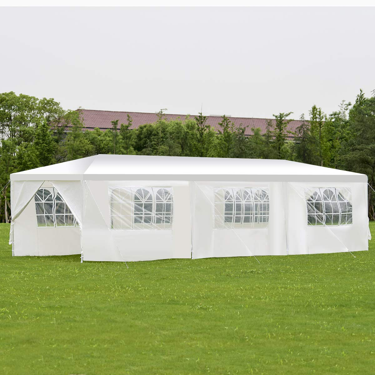 BenefitUSA Wedding Party Tent Outdoor Camping 10'x30' Easy Set Gazebo BBQ Pavilion Canopy Cater Events by BenefitUSA