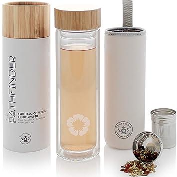 Teabloom Vaso Multiusos - 0,45 L - Bambú Natural Y Botella ...