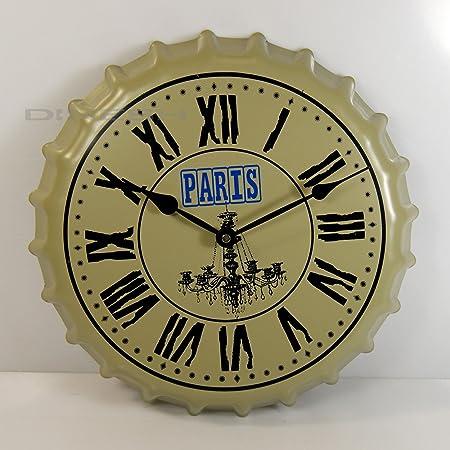 Di de nesh (595) Reloj de Pared Paris diseño Botella Tapa chapas ...