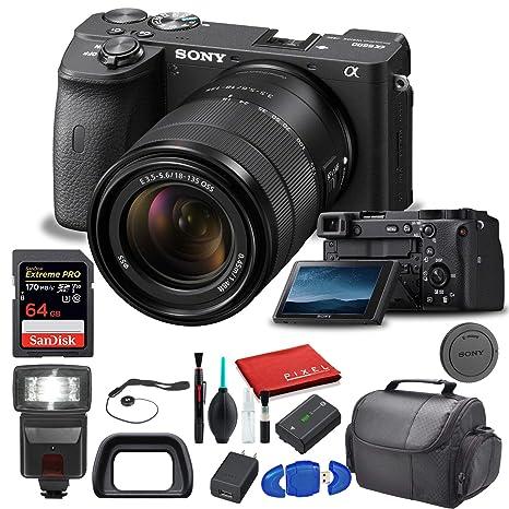 Sony Alpha a6600 Cámara Digital sin Espejo con Lente de 18-135 mm ...