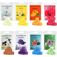 Perkisboby Scented Wax Melts, Soy Wax Cubes with Natural Essential Oil for Assorted Wax Warmer Cubes/Tarts - Rose, Fig…