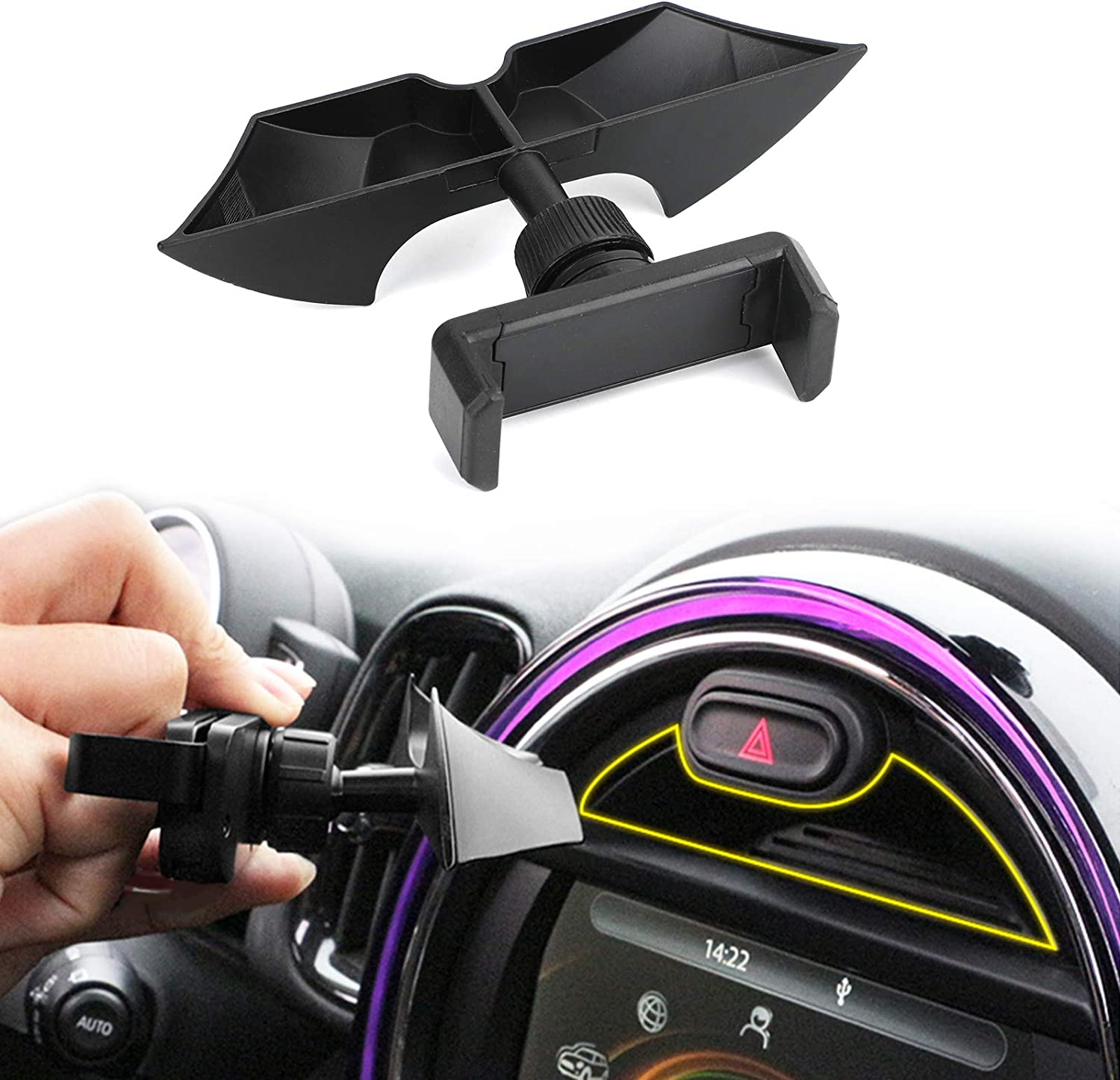 Topteng Dashboard Phone Holder for Car, Dashboard Slot Phone Holder Mount fits for BMW Mini Cooper F54 F55 F56 F57 F60