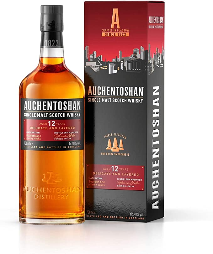 Auchentoshan 12 Jahre Single Malt Scotch Whisky, mit Geschenkverpackung, 40% Vol, 1x 0,7l: Amazon.de: Bier, Wein & Spirituosen