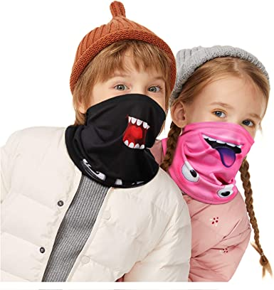Kids Neck Gaiter Kid Warm Face Covering Gaiters For Children Winter Balaclava Kids Face Scarf