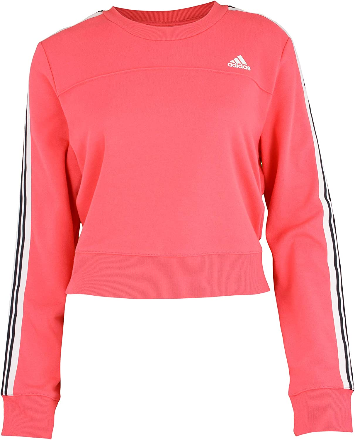 adidas Women's Cho Crew Pullover Sweater, Pink: Clothing