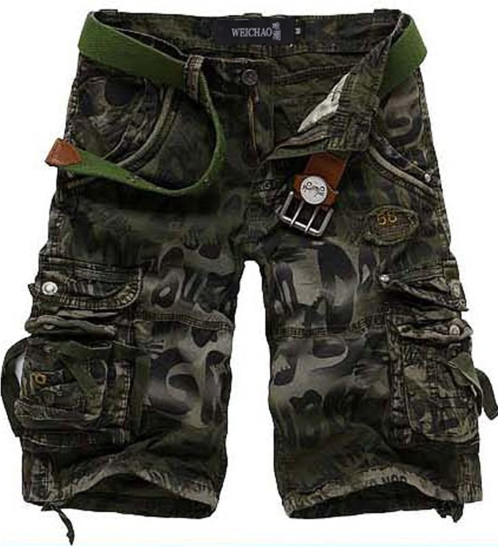 Letuwj Herren Cargo Shorts Vintage Kurze Hose Sport Outdoor Camouflage Sommerhose