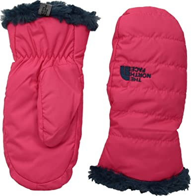 e06450f0c48d The North Face Girl s Mossbud Swirl Mitt - Atomic Pink   Blue Wing Teal ...