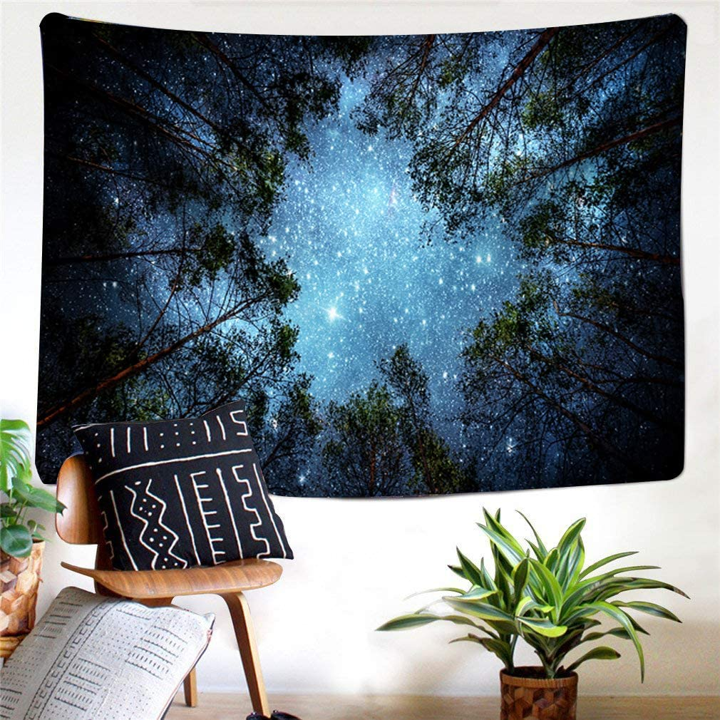 Galaxy Tapestry Wall Hanging by IMEI Universe Stars Outer Space 3D Print Nature Tapestries Mattress Wall Art Decor for Dorm Living Room 51 X 60 Inch, Universe Starry Star Sky
