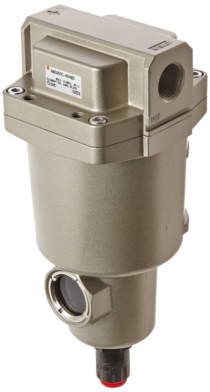 SMC AMG350C-N04BD Water Separator, N.O. Auto Drain, 1,500 L/min, 1/2' NPT, Mounting Bracket 1/2 NPT