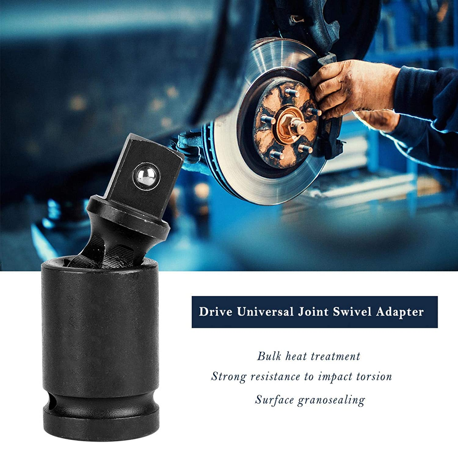 Air Impact Socket Durable Solid Portable Shipbuilding Auto Repair for Metallurgy Mining Rotate 360 /° Universal Joint 3//4 inch