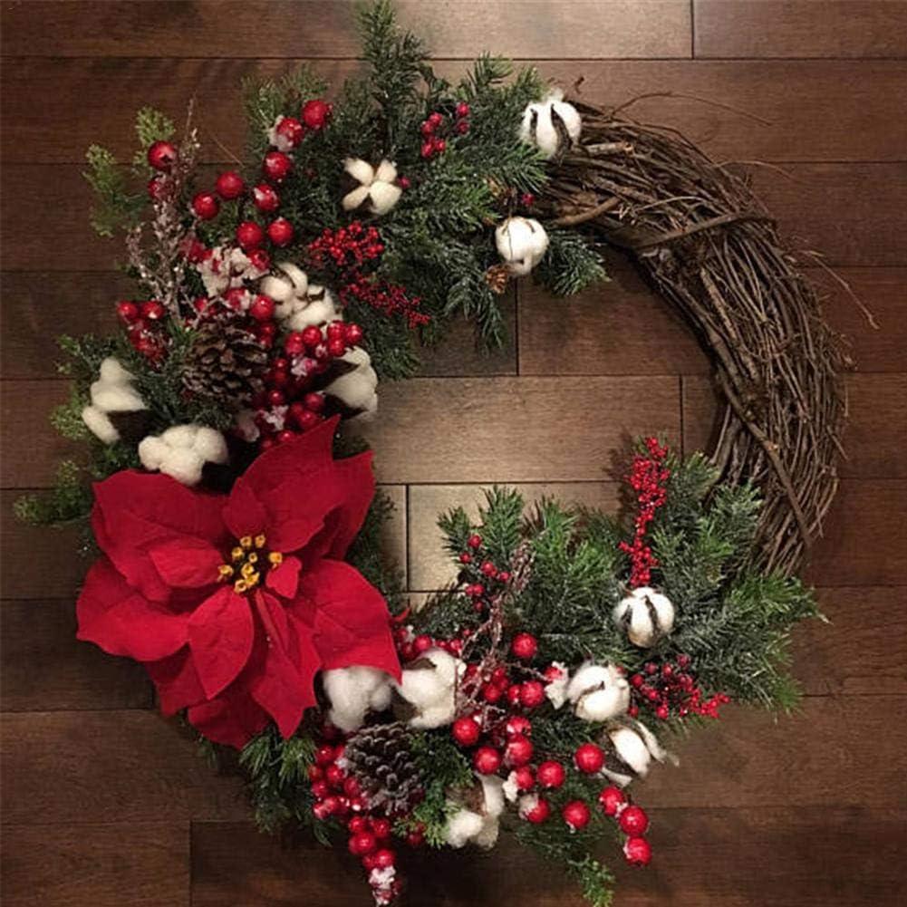 Youngsown Ghirlanda Natale Artificiale Ghirlanda Natalizia per Porta 30cm