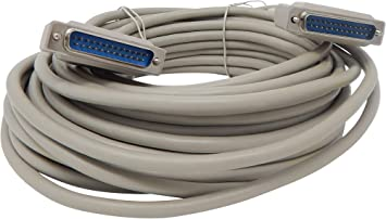 Your Cable Store 6 Foot DB25 25 Pin Serial Port Cable Male//Female RS232