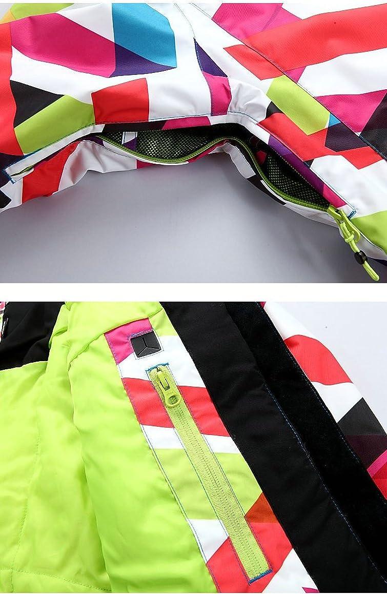 Veste de Snowboard de Ski pour Femme Veste doubl/ée dhiver Chaude et imperm/éable