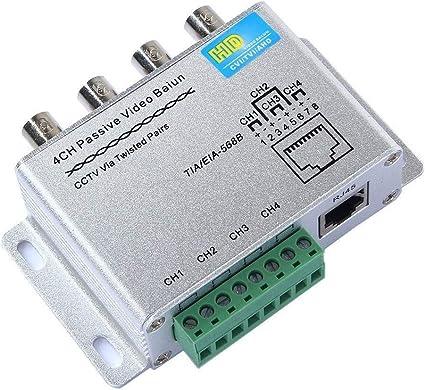 NEW 4Ch Active UTP Transceiver Video Balun BNC to UTP Cat5 1200M for CCTV Camera
