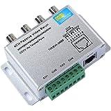 OdiySurveil(TM) 4 Channel Aluminium Alloy Shell Passive HD-CVI/TVI/AHD CCTV Camera Transceiver,BNC RJ45 UTP Video Balun,720P/