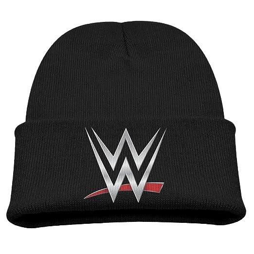 Amazon.com  WWE Championship Unisex Winter Hat Beanies Cap Black ... 2a1b8fcf73a