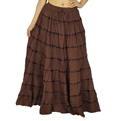 Falda ocasional playa de las mujeres de moda del Hippie de la ...