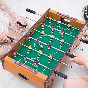 TTIK Futbolín Madera sobremesa - Madera Futbolines Mesa Multijuegos Barras telescópicas Mango de plástico Ideal para Jugar con Amigos: Amazon.es: Deportes y aire libre