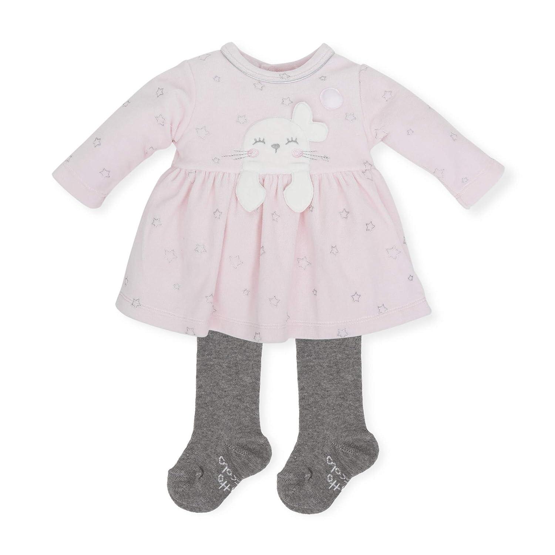 Tutto Piccolo Vestido Bebé Niña con Leotardos Ropa de Bebé Temporada Otoño-Invierno Estampado Estrellas Color Rosa y Gris 5288W18: Amazon.es: Ropa y ...