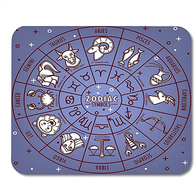 Mousepad Horóscopo Astrológico Azul Del Zodiaco Signos Del ...