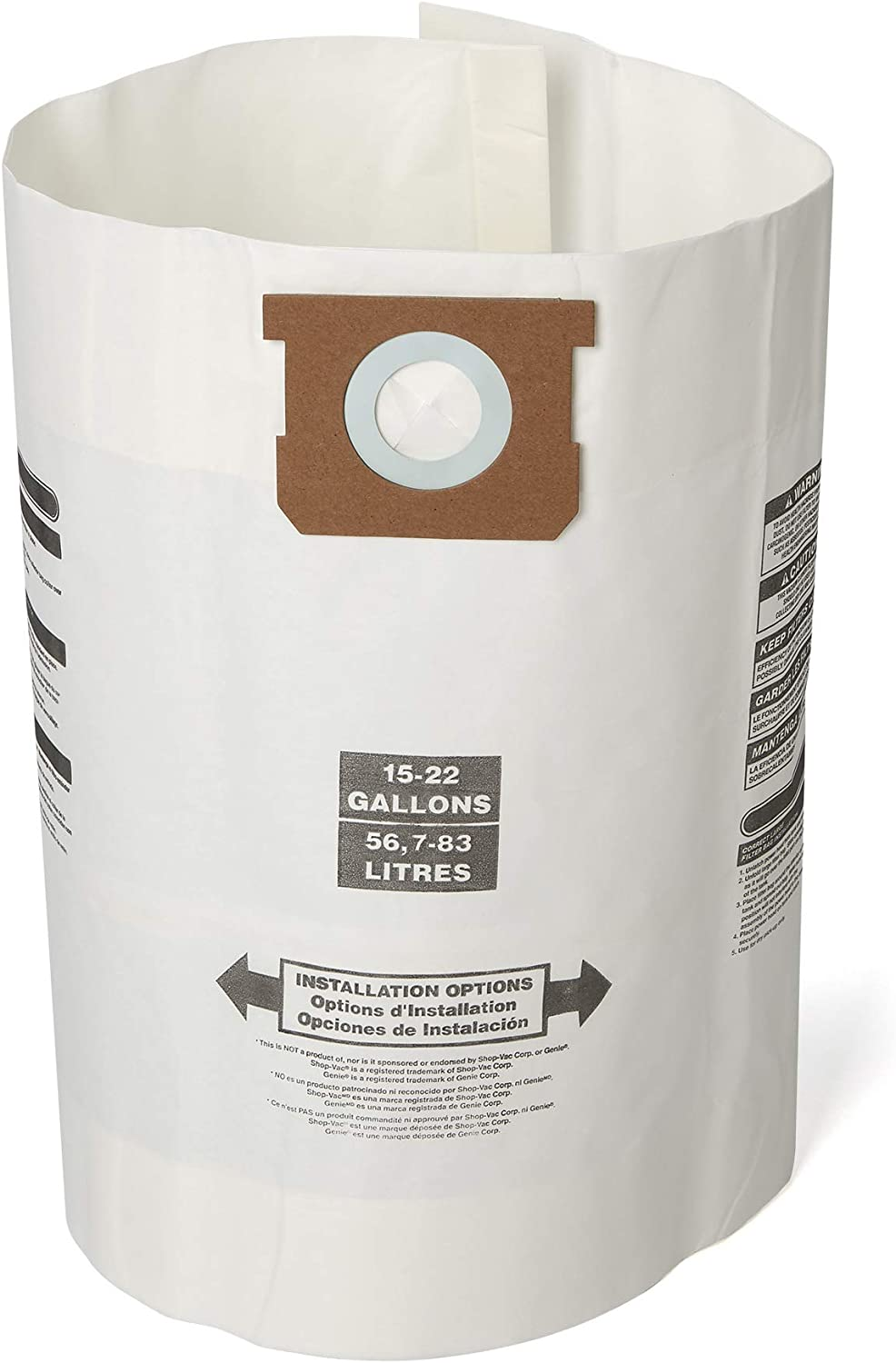 SEARS CRAFTSMAN 97274 Pack of 2 Two 12 Gallon Vacs High Efficiency Filter Bags