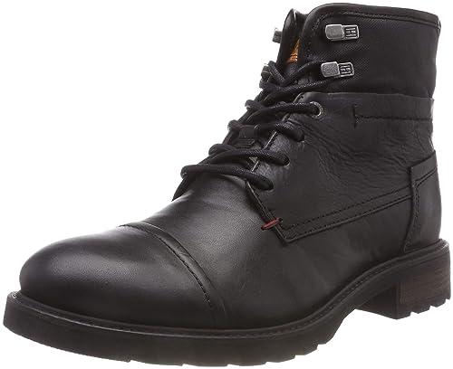 new product c4930 dbb79 Tommy Hilfiger Herren Winter Leather Textile Mix Combat Boots