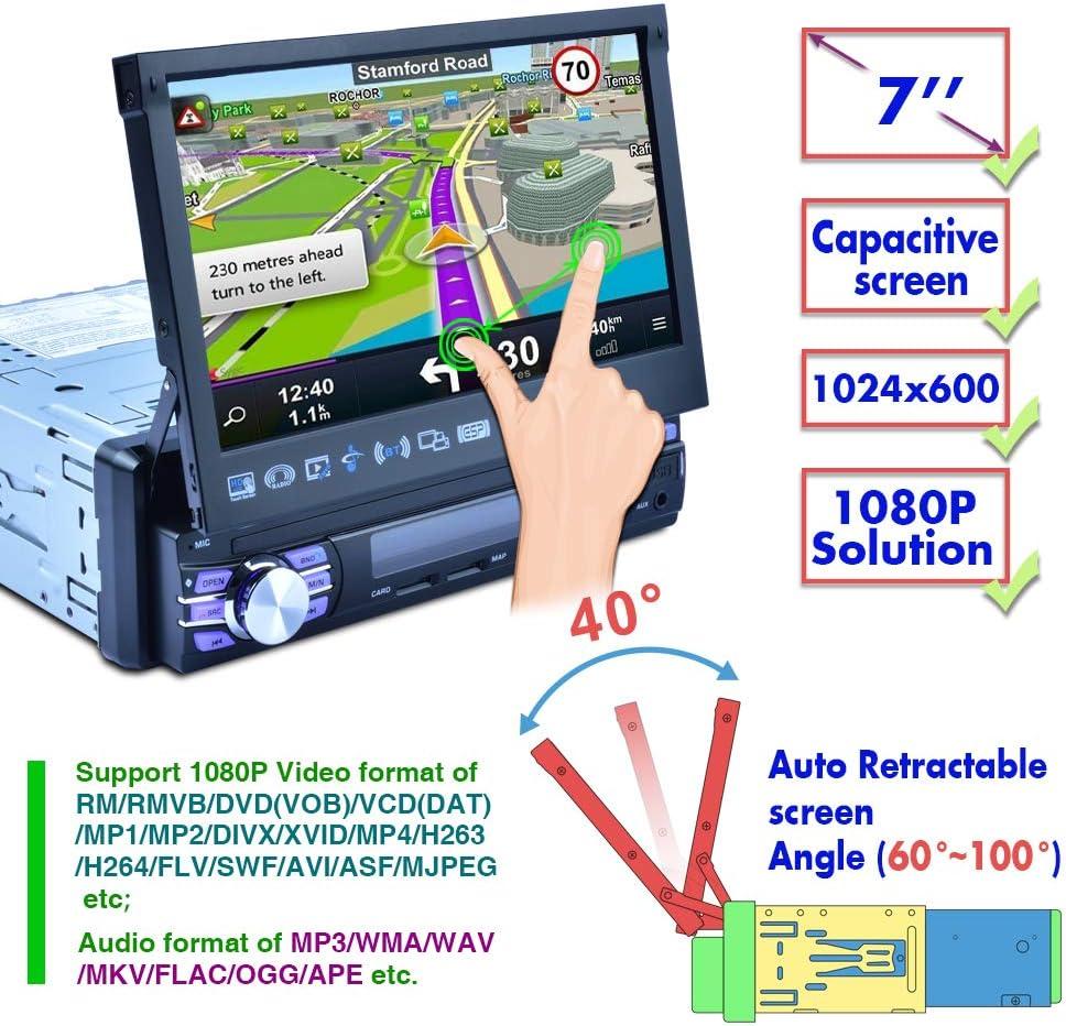 Android Radio Coche 1 DIN GPS Navegación Camecho 7 Pulgadas ...