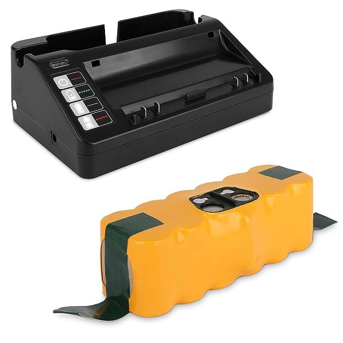 CELLONIC® Batería Premium (14.4V, 3300mAh, NiMH) Compatible con iRobot Roomba 800,870,871,880,780,770,620,650,620,565,530,500,520,550-11702, VAC-500NMH-33 ...